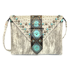 Designer Envelope Clutch, ID wallet included - The Owl Creek Pass VIII front view