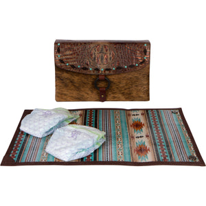 Diaper Clutch & Changing Pad - The Little Bear Peak I front view