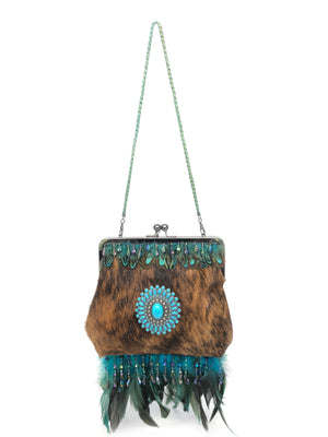 Unique Evening Bag - The Feather Peak II Dark Brindle