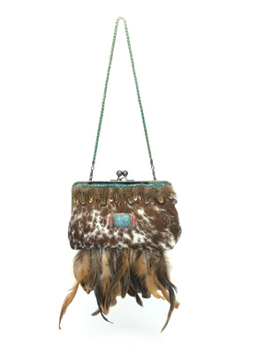 Evening Clutch Bag - The Feather Peak IV longhorn