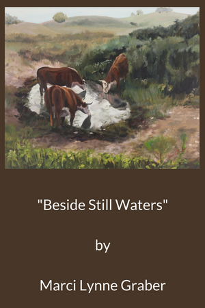 Western Art Oil Painting Beside Still Waters