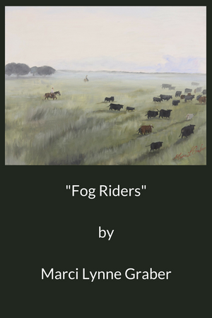 Western Art Oil Painting Fog Riders