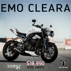 Triumph EX Demo Clearance Sale
