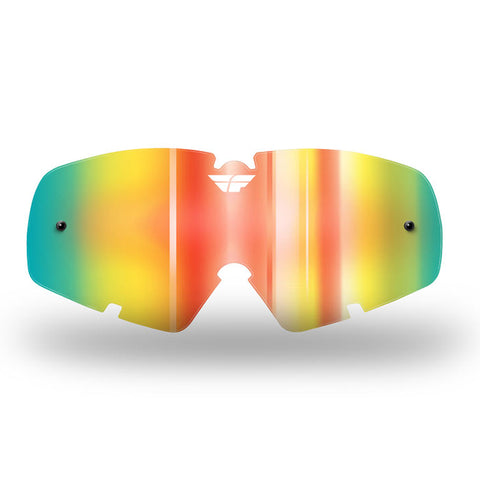 Fly Zone/Focus Goggle Lens '17 Yth Fire Mirror/ Smo