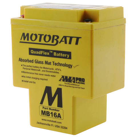 MB16A MOTOBATT QUADFLEX BATTERY (4PCS/CTN)