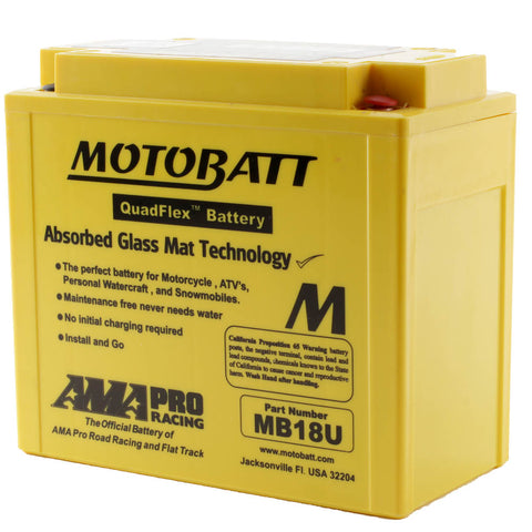 MB18U MOTOBATT QUADFLEX BATTERY (4PCS /CTN)