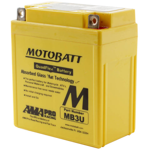 MB3U MOTOBATT QUADFLEX BATTERY (10PCS/CTN)