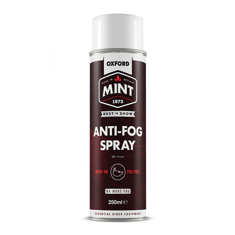 OXFORD MINT ANTI-FOG VISOR /GOGGLE SPRAY 250ml