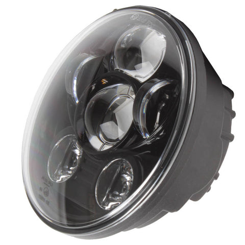 "WHITES LED HEADLIGHT INSERT 5 3/4"" with H4 Plug , e-mark"