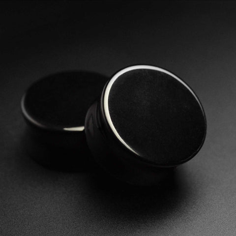 Black Glass Double Flare Plug