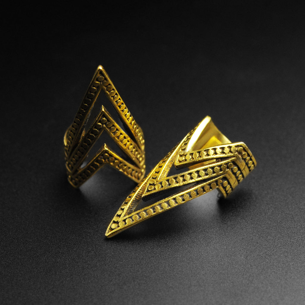 Brass Tribal Arrow Ear Cuff