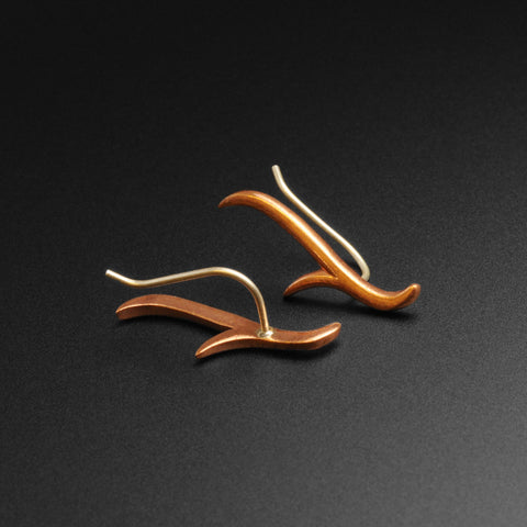 Antler Copper & Silver Ear Climber