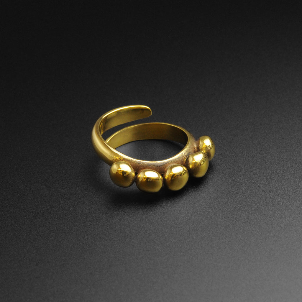 Beaded Brass Ring