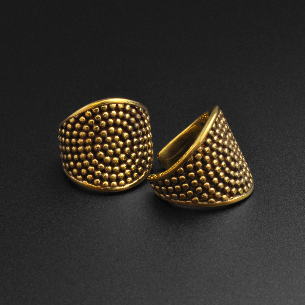 Multi Dots Brass Ring