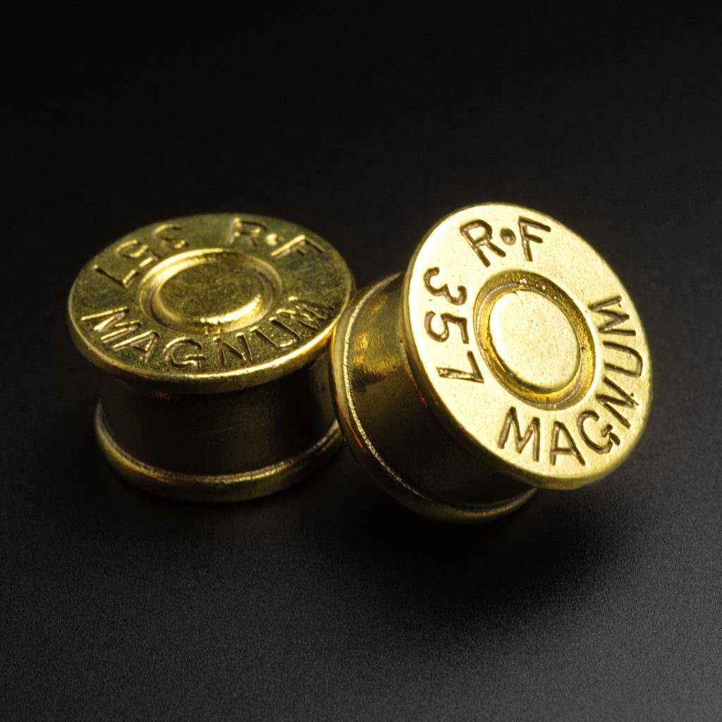 Brass Magnum Bullet Double Flare Plugs