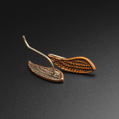 Angel Wing Copper & Silver Ear Climber