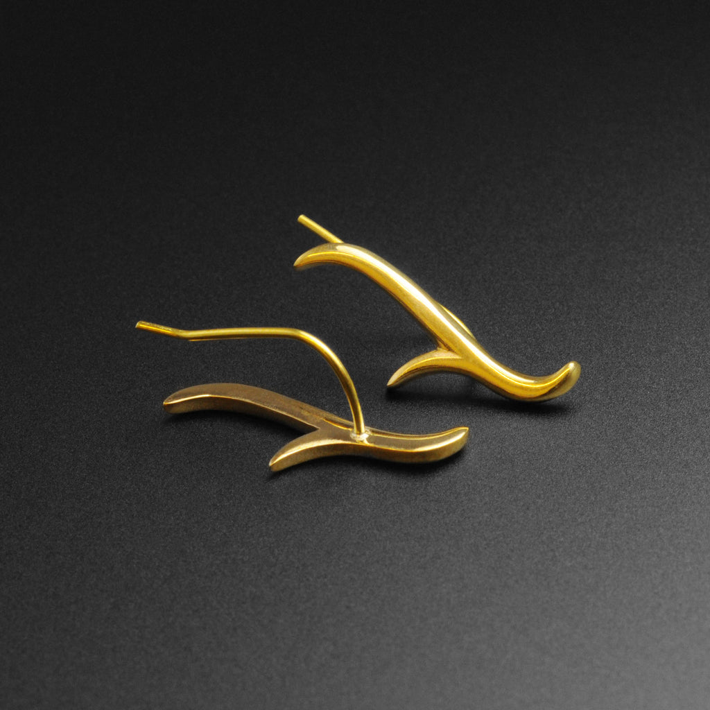 Antler Brass Ear Climber