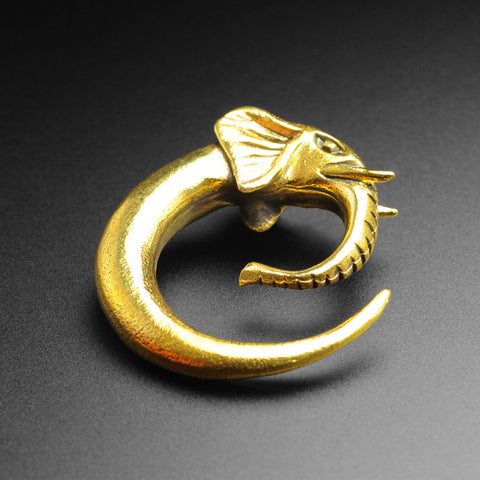 Brass Elephant Head Spiral