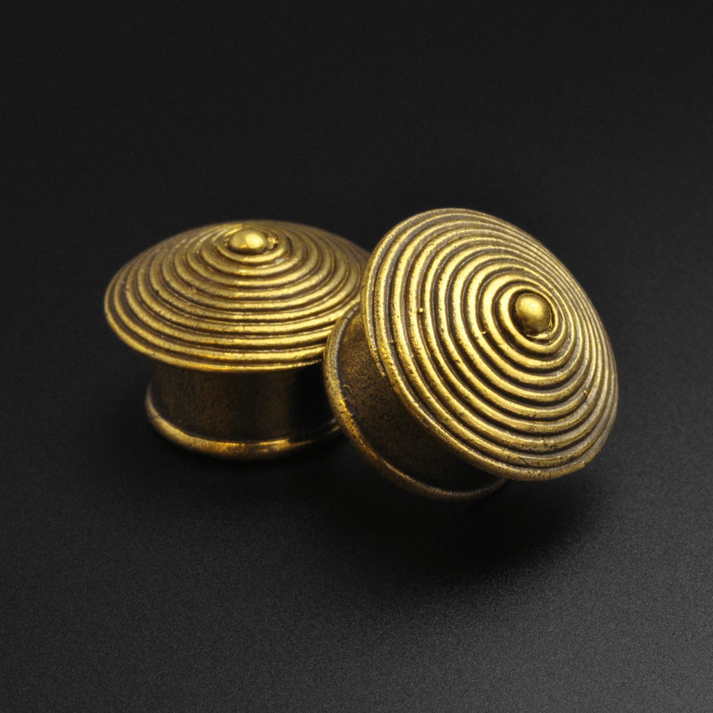 Brass Spiral Cone Double Flare Plug