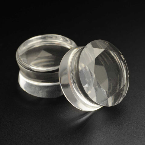 Faceted Glass Double Flare Plug