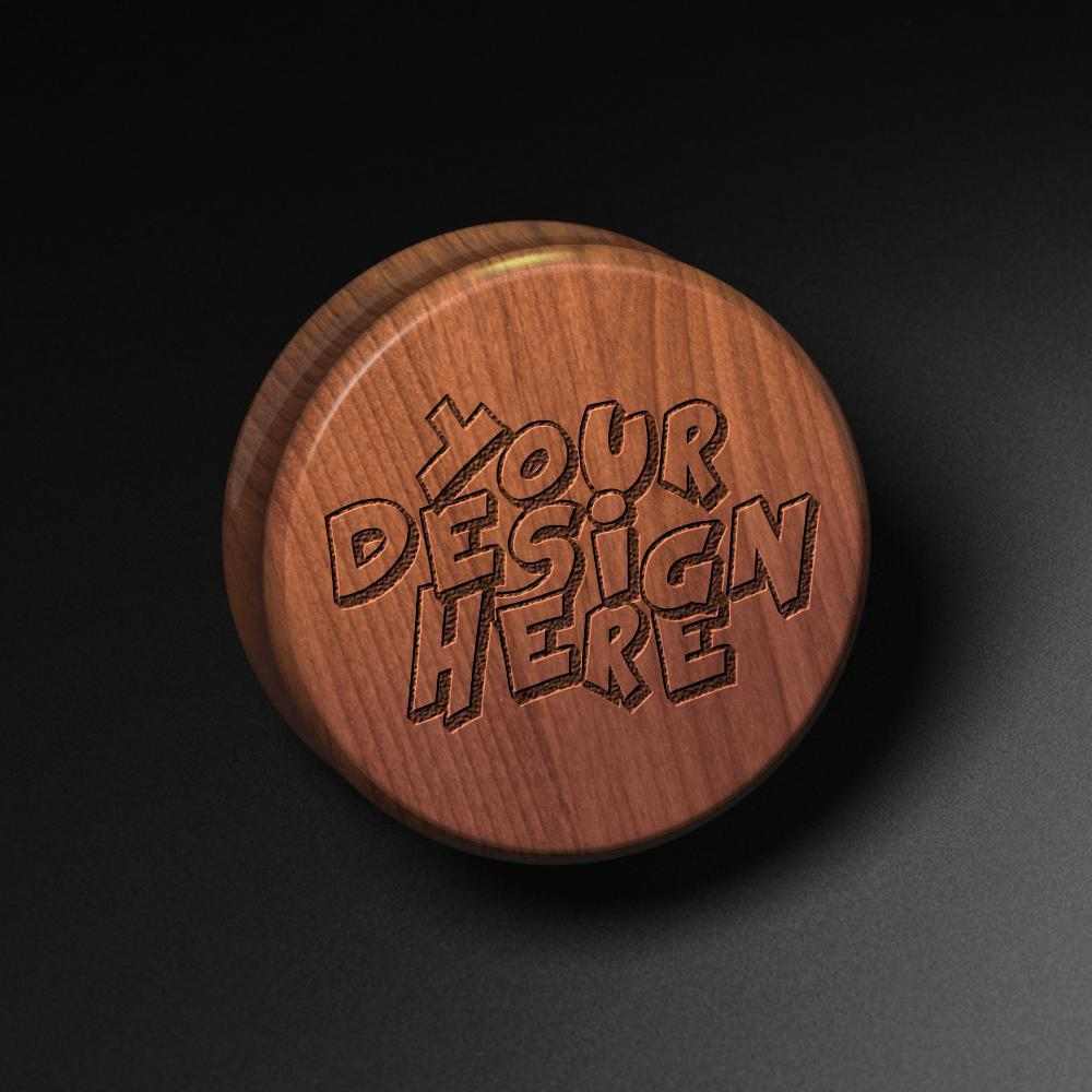 Fully Custom Laser Engraved Saba Wood Plug