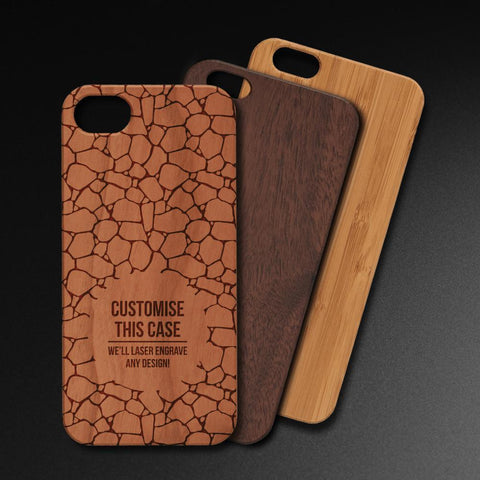 Fully Custom Laser Engraved Wooden Phone Case