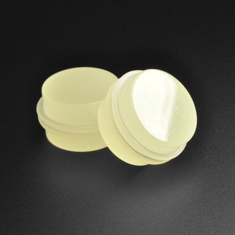 Green Glow In The Dark Acrylic Double O-Ring Plug