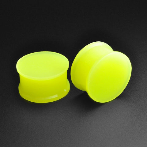 Green Glow In The Dark Silicone Double Flare Plug
