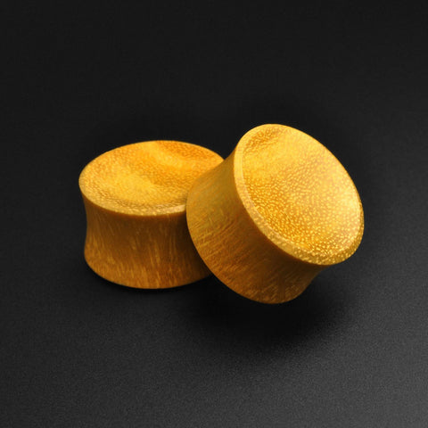 Jackfruit Wood Double Flare Concave Plug