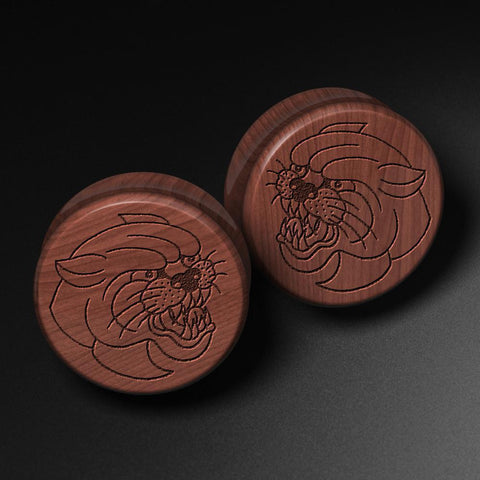 Lee Pound's Panther Laser Engraved Saba Wood Plug