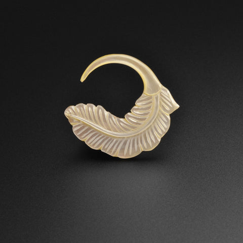 Mother Of Pearl Feather Spiral