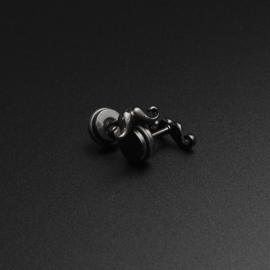Black PVD Moustache Fake Gauge Plug
