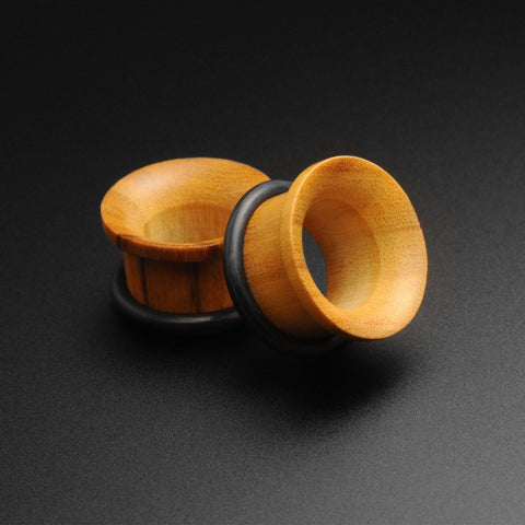 Olive Wood Single Flare Concave Tunnel