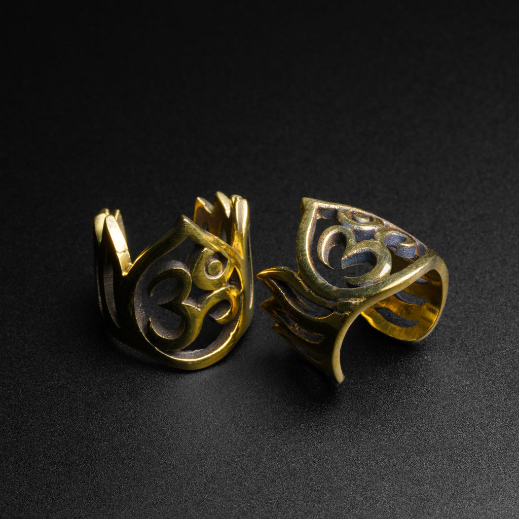 OM Mani Brass Ear Cuff