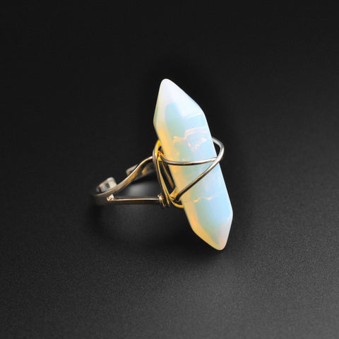 Opalite Wire Wrap Stone Ring