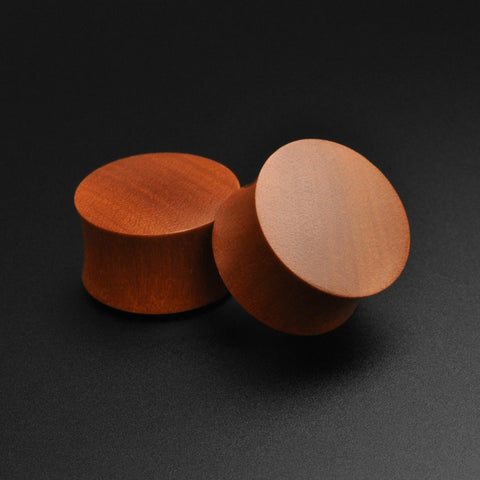 Saba Wood Double Flare Convex Plug