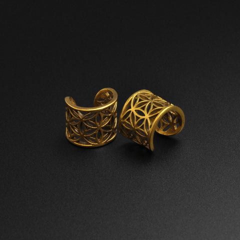 Seed Of Life Brass Ear Cuff