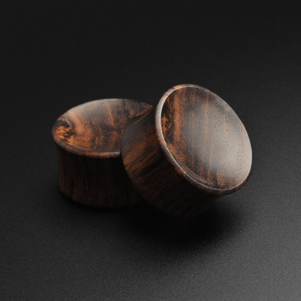 Sono Wood Double Flare Concave Plug