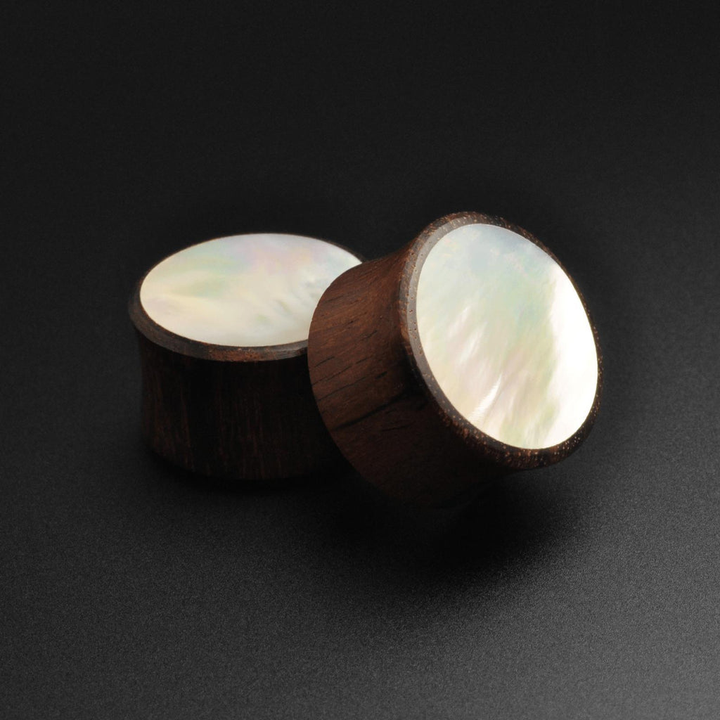 Sono Wood Double Flare Plug With MOP Inlay