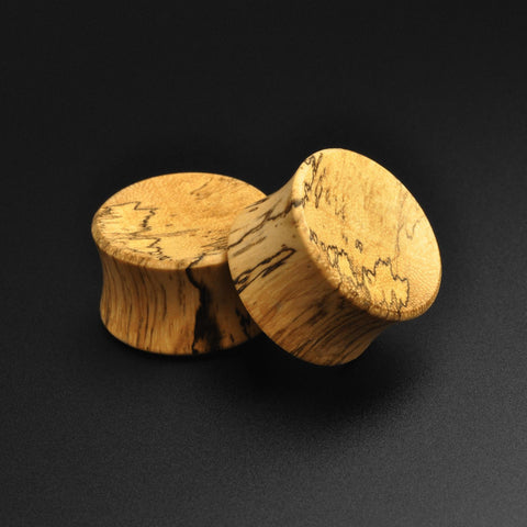 Tamarind Wood Double Flare Concave Plug