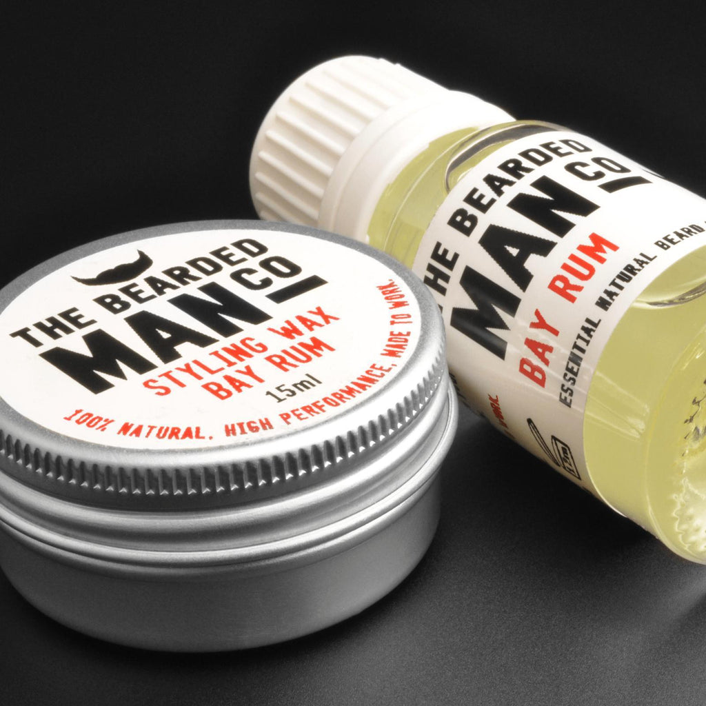 The Beaded Man Co.™ Beard Oil & Styling Wax Set