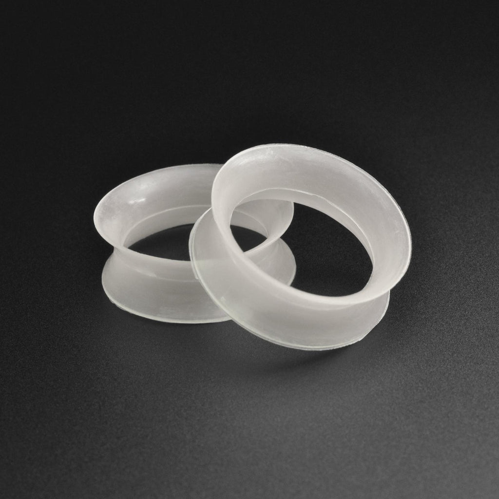 Ultra Thin Clear Silicone Double Flare Tunnel
