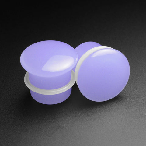 Violet Glass Single Flare Convex Plug