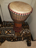 African Wood hand carved djembe shipping incuded