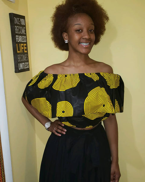 Ankara tube top