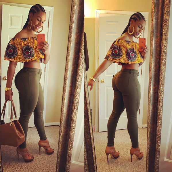 African Ankara Crop top