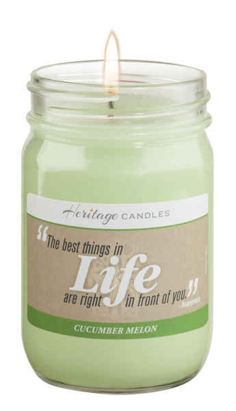 Cucumber Melon Quote Candle