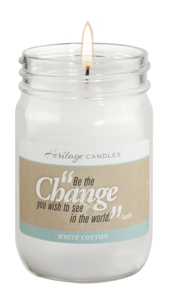 White Cotton Quote Candle