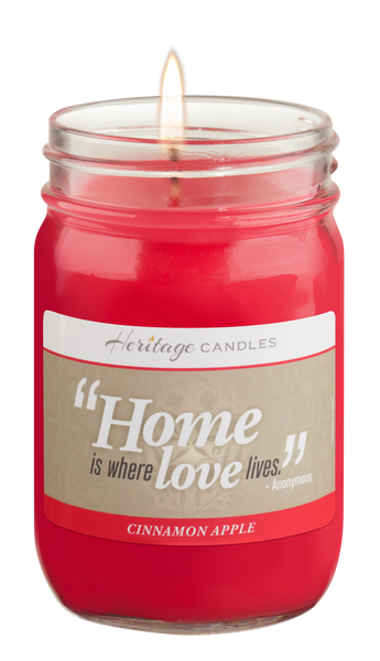 Cinnamon Apple Quote Candle