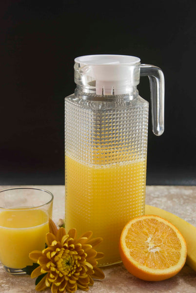 Glass Juice Pitcher and Lid